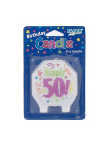 marvelous 50th birthday candle