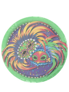 masquerade party 8 count 7 inch round plates