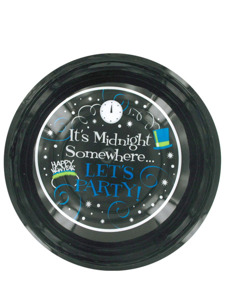 midnight somewhere 12 inch plastic bowl
