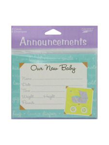 mommy chic 8 count announcements/envelopes