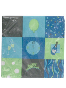 new year square 20 count 9 7/8 x 9 7/8 inch napkins