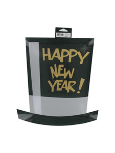 new years happy new year top hat cutout