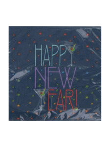 new years toast 16 count 9 7/8 x 9 7/8 napkins