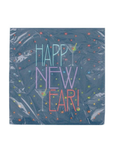new years toast 16 count 12 7/8 x 12 7/8 inch napkins