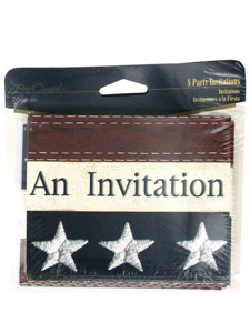 old glory 8 count party inviations/envelopes