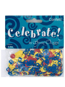 on the job printed confetti .5 ounce bag