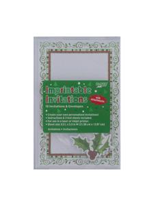 otannenbaum 10 count imprintable invitations/envelopes