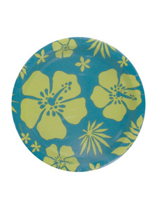 paradise floral blue 8 count 6 3/4 inch round plates