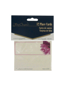 peony bloom 12 count placecards 1.5 x 3.25 inch