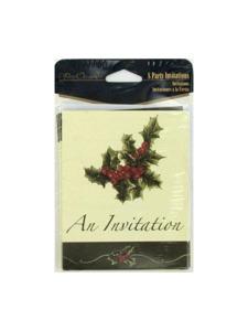 perfect poinsettia 8 count invitations/envelopes