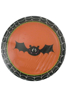 silly souls halloween 8 count 6 3/4 inch round plates