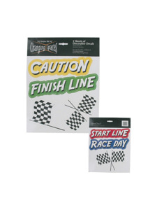 speedway 2 sheets of decorative decals