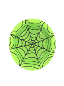 spiderweb green 12 ounce paper bowl