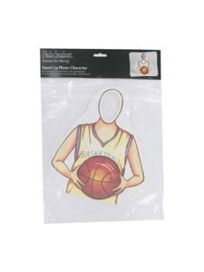 basketball stand up photo character