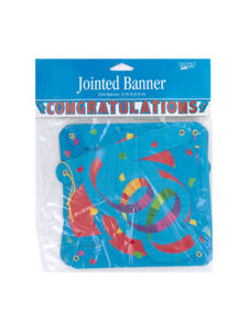 streamer celebration congratulations jointed banner