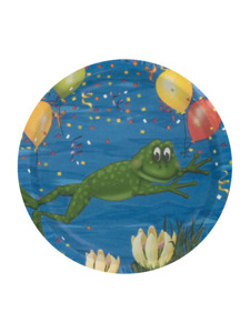 swamp party 8 count 7 inch round plates