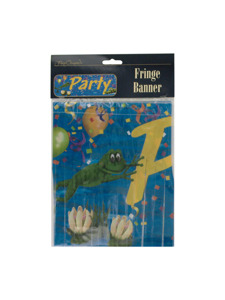 swamp party fringe banner
