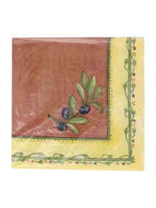 taste of tuscany 16 count 9 7/8 x 9 7/8 napkins