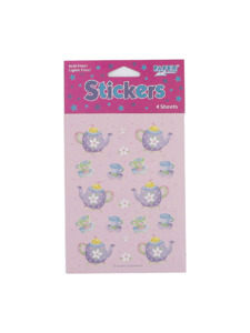tea party 4 count sticker sheets