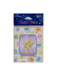 cakes on me 1st birthday 8 count thank you cards/envelopes