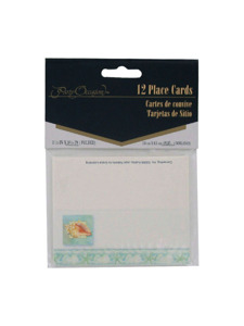 tranquil seas 12 count placecards 1.5 x 3.25 inch