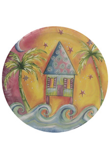 tropicana beach 8 count 7 inch round plates