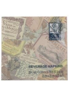 vintage 24 count 9 7/8 x 9 7/8 beverage napkins