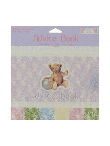 vintage nursery mom to be advise book with ribbon