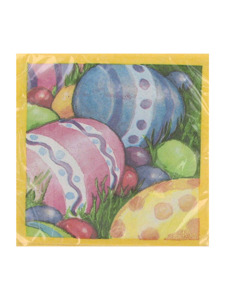 watercolor eggs 20 count 9 7/8 x 9 7/8 inch napkins