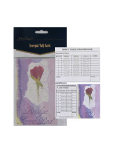 watercolor floral scorepad/tally cards