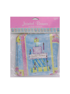 wedding wishes bridal shower jointed banner 8.75 foot
