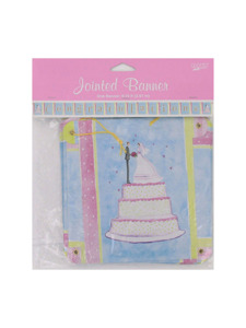 wedding wishes congratulations 9.75 foot jointed banner