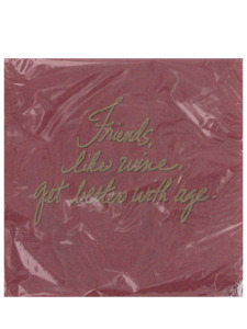 wine and cheese friends 16 count 9 7/8 x 9 7/8 napkins