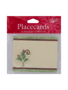 woodland holiday 12 count placecards with stick ons
