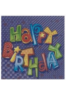 zany birthday 16 count napkins