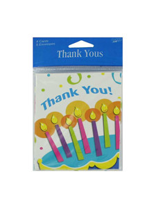 cake surprise 8 pack thank you cards/envelopes