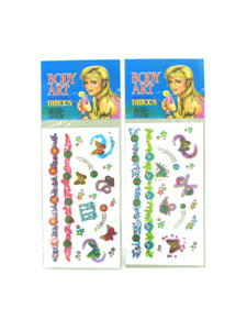 glitter tattoos assorted designs