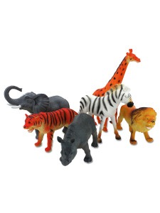 wild animals 6 assorted