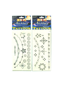 necklace design tattoos (assortment may vary)