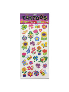 Flower temporary tattoos