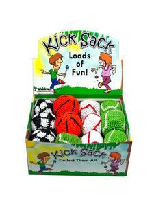 24 Piece sports themed kick sack display