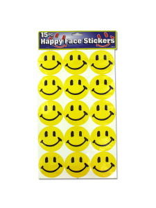 Large happy face stickers (set of 15)