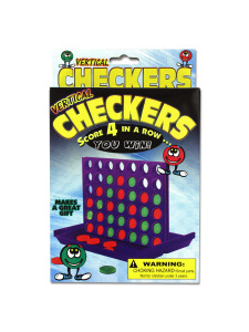 Vertical checkers game