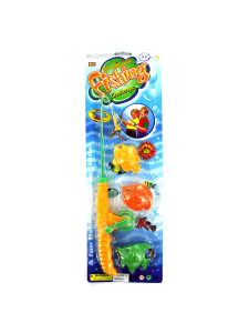 Magnetic fishing pole and fish