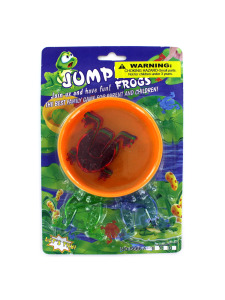 leap frog jumping game w/ 6 frogs