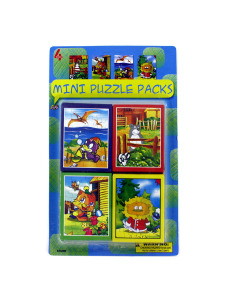 Pack of four mini puzzles