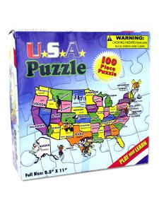 100-piece USA puzzle