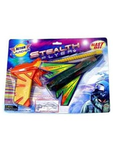 Stealth action toy flyer