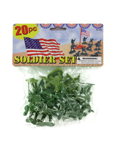 Set of 20 plastic soldiers