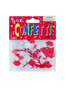 1.05oz red & white lip confetti